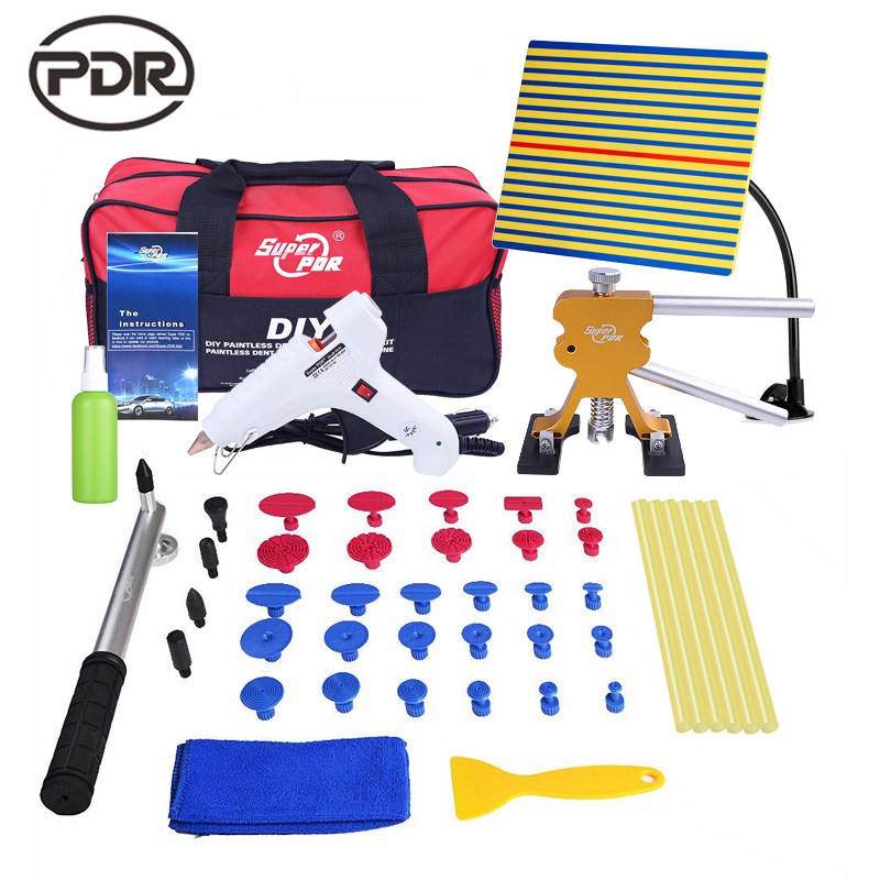PDR Tools Set Paintless Dent Repair Car Dent Removal Hand Tool Set PDR Reflector Board Hot