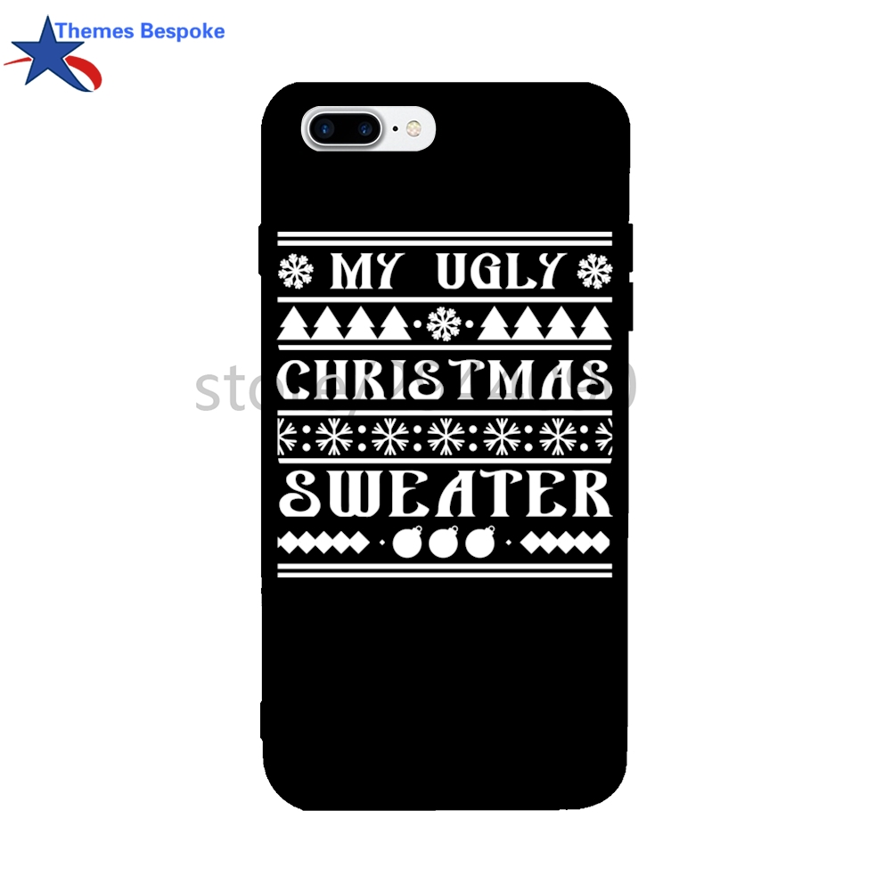my ugly christmas sweater for iphone 67x case 47inch soft tpu covers for iphone 8 plus candy color for iphone case 6s plus in fitted cases from - My Ugly Christmas Sweater