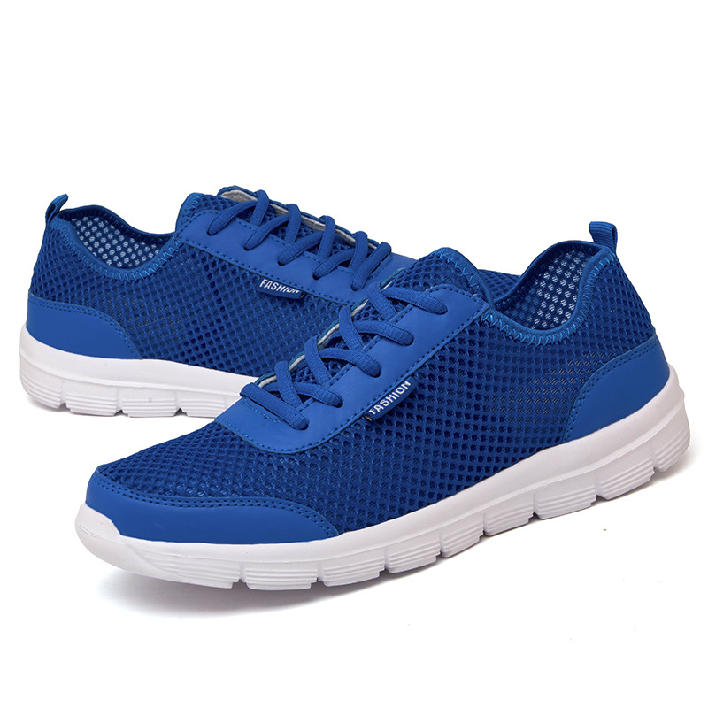 Verano Respirable Encaje 39 Hombres Moda Casual Más Zapatos blue Hasta Cómoda 2017 gray 48 Tamaño Black 1SnnHE0