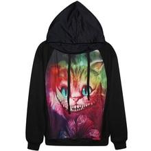 Harajuku 3D Print galaxy horror Cat Sweatshirts Fashion Long sleeve with hat Men Women Hoodies Cartoon Hoody Hooded Pullover