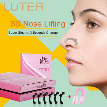 LUTER 3 Pairs Invisible Nose Shaper Lifting Straightener With Nose Clip Corrector Clip Painless Immediate Straightening Bridge