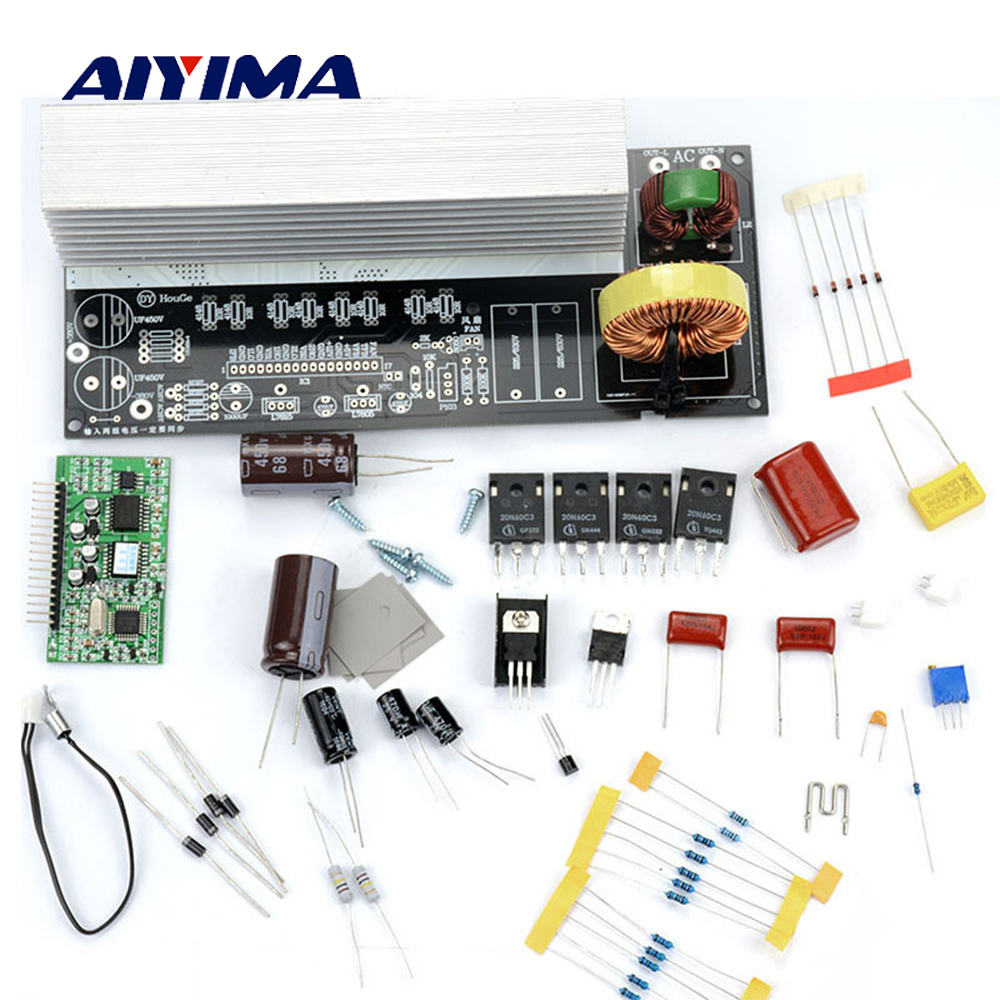 Aiyima 1Set 1000W Pure Sine Wave Inverter Power Board Post Sine Wave Amplifier Board DIY Kit Free Shipping цена