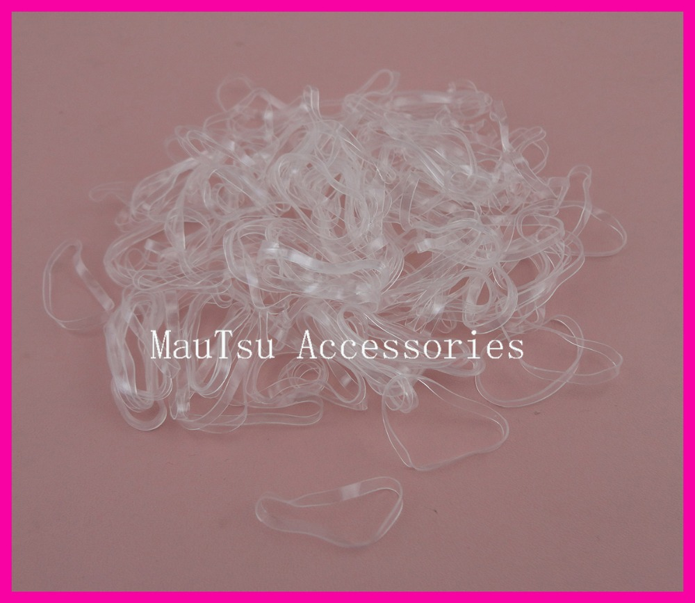 1000PCS 6.0cm length Top quality All Clear rubber Hairband for Rope Ponytail,white Holder Elastic Hair Band,Ties Braids Plaits 300pcs pack rubber rope ponytail holder elastic hair bands ties braids plaits hair clip headband hair accessories