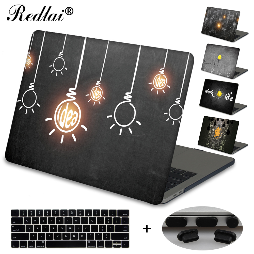 Case For Macbook New Pro 13 15 Touch bar A1706 A1707 Innovative Light Bulbs Hard Laptop Case For Mac Book Air Pro Retina 13 15 new silver for macbook pro retina 15 4 a1707 force touch pad touchpad trackpad