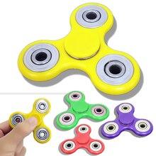 Colores Multi Fidget Tri-Spinner Spinner Juguetes Sensoriales Autismo Fidgets TDAH Mano Anti Estrés regalos Divertidos Plástico EDC Rotación largo