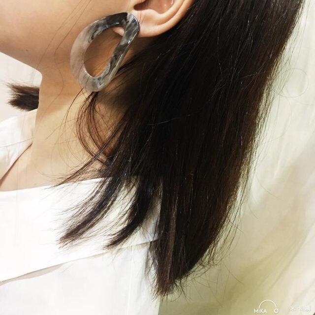Stud Earrings Green Color Punk Vintage Irregular Acrylic Earring Fashion Simpel Jewelry Accessories Women