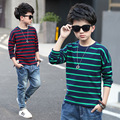 Boys T Shirt 5 6 7 8 9 10 11 12 13 14 15 Children Clothes For Teenagers Boys Clothing Spring Wear Long Sleeve Striped Boys Tops