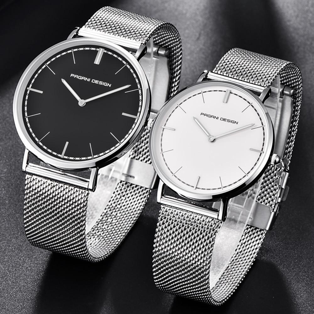 Ultra Thin Men Watch PAGANI DESIGN Top Luxury Brand Women Watches Waterproof Rosy Gold Leather Fashion Couple Quartz Wrist Watch