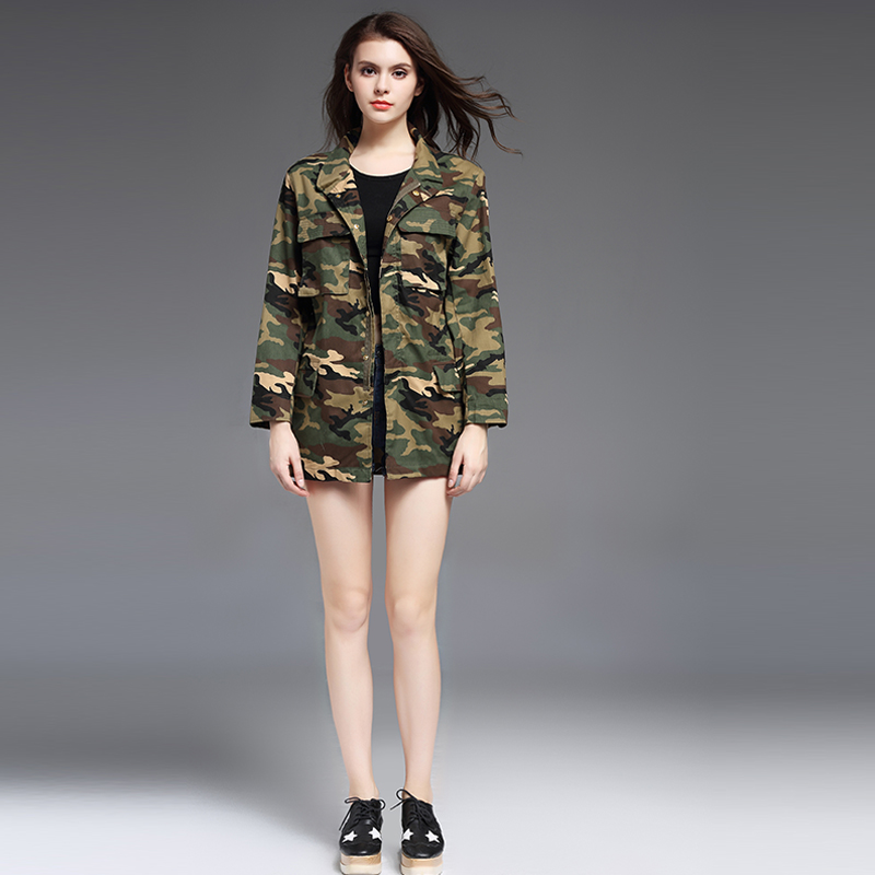 American Military Camouflage Sexy Women Jacket-1322