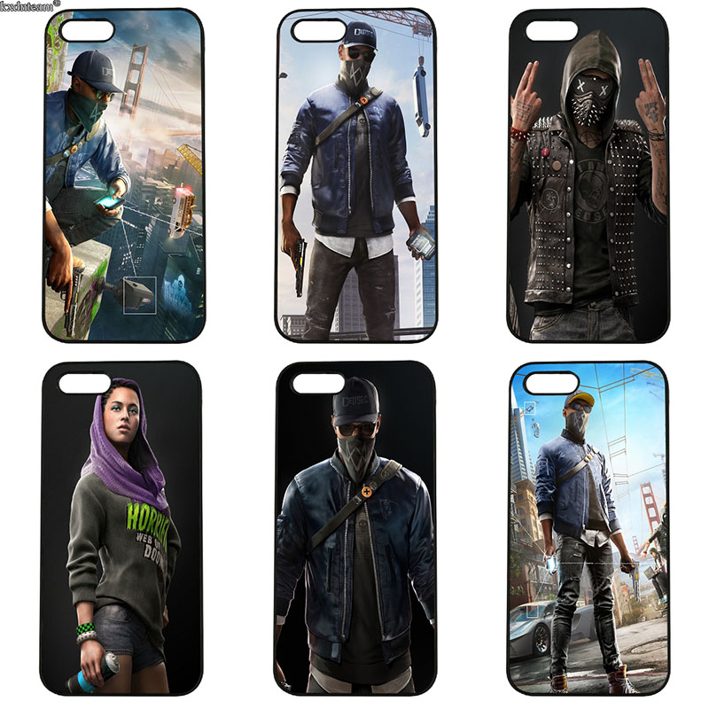 Mobile Phone Cases Hot Watch Dogs Drawing Hard PC Cover Fitted for iphone 8 7 6 6S Plus X 5S 5C 5 SE 4 4S iPod Touch 4 5 6 Shell