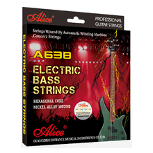 Alice Electric Bass Strings Hexagonal Core 045-105 inch Nickle Alloy Wound for 4 String Bass A638(4)-M