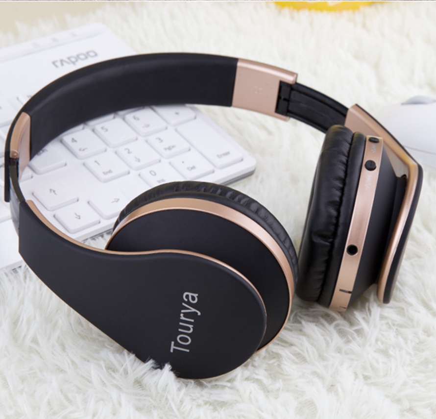 Tourya B2 Wireless Headphones Bluetooth Headsets Headphone Earphone With Microphone Support TF Card For PC Mobile Phone Music