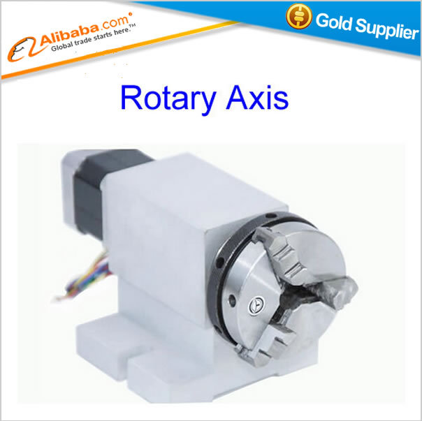 Hot sell cnc part Rotary Axis For CNC engraving machine router, 63mm 3-jaw Chuck with Harmonic reducer cnc 5 axis a aixs rotary axis three jaw chuck type for cnc router