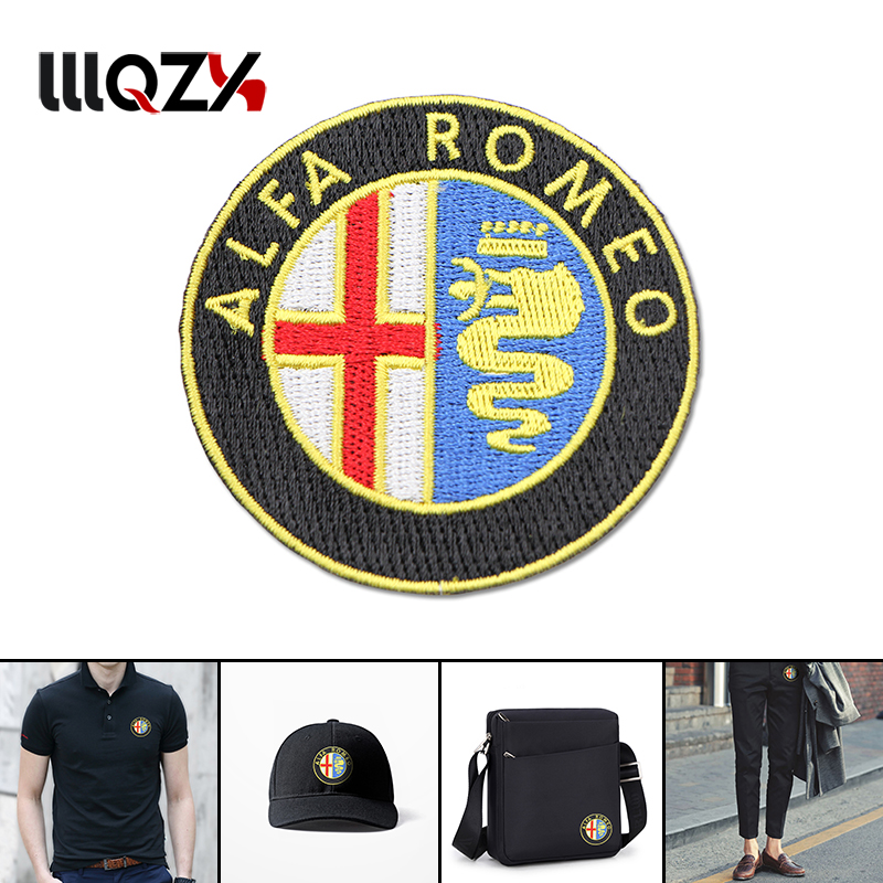2018 <font><b>Car</b></font> Styling For Clothes Stickers Fabric Applique <font><b>Patch</b></font> Embroidery For Alfa Romeo 147 156 159 Mito Giulia Milano GT Q2 image