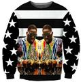 Women/Men Casual Tops Style Sexy Long Sleeve 2Pac Crewneck Biggie Smalls Sweatshirt Outfits Star Streetwear