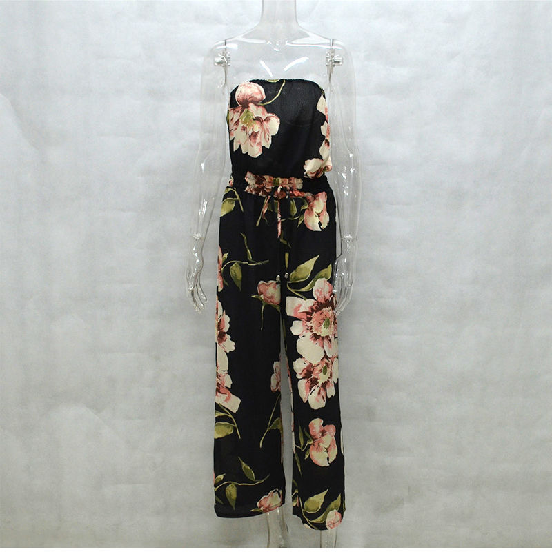 91420dc4ec As Daisy Off Shoulder Floral Jumpsuit Women Rompers Long Pants Boho Style  Beach Playsuit Sexy Bodysuit Elegant Jumpsuits JP0031-in Jumpsuits from  Women s ...
