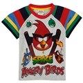 Camiseta de los muchachos niños ropa impreso pájaro de dibujos animados juego de nova marca kids desgaste del verano de manga corta camisetas para chicos C5021