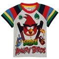 boys t shirt children clothes printed cartoon bird game nova brand kids wear summer short sleeve t shirts for boys C5021