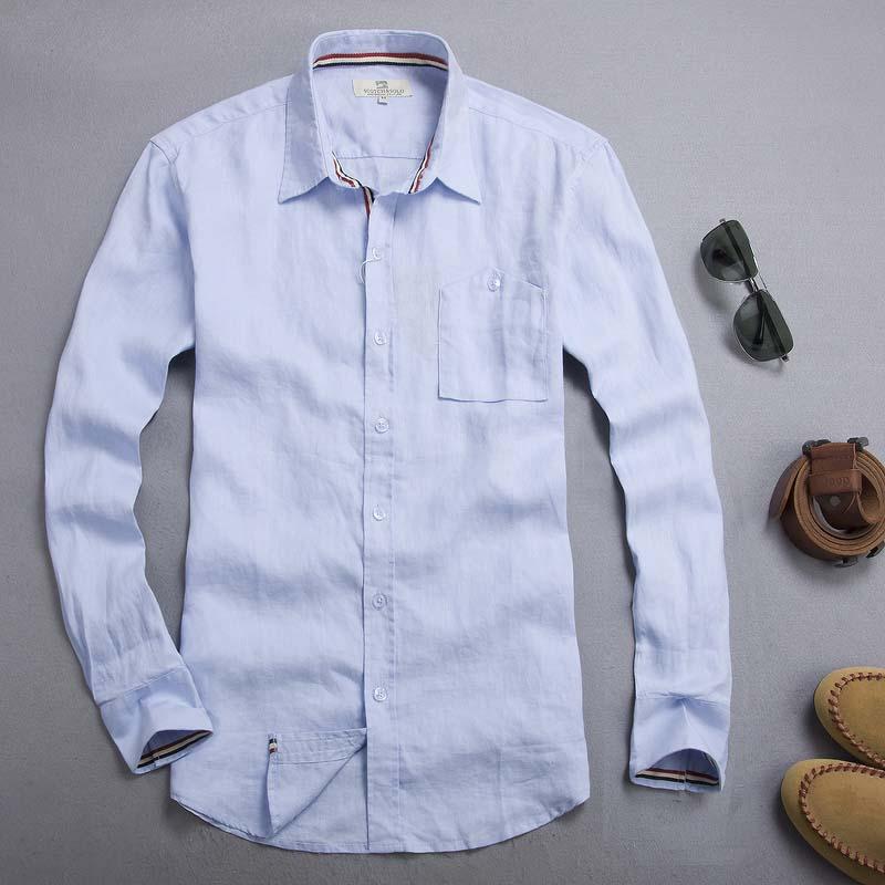 5ae613d8a247 Camisa Social Slim Fit Linen Shirt For Men Blouse Men Camiseta Masculina  Sudaderas Mens Urban Clothing Blusa Manga Longa-in Casual Shirts from Men s  ...