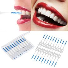 40Pcs Floss Sticks Adults Interdental Brushes Clean Between Teeth Floss Brushes Toothpick ToothBrush Dental Oral Care Tool