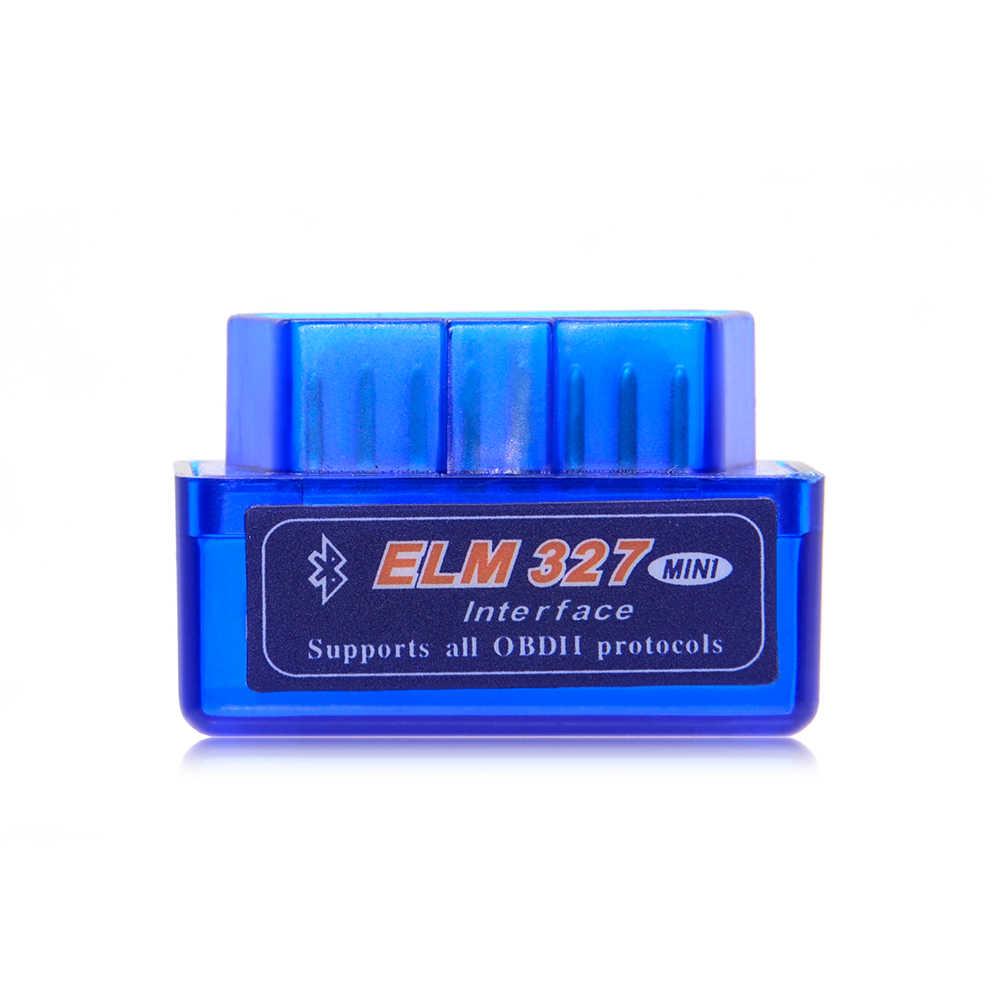 Süper Mini Elm327 Bluetooth OBD2 V1.5 Elm 327 V 1.5 OBD 2 araç teşhis aracı tarayıcı Elm-327 OBDII adaptörü otomatik teşhis aracı