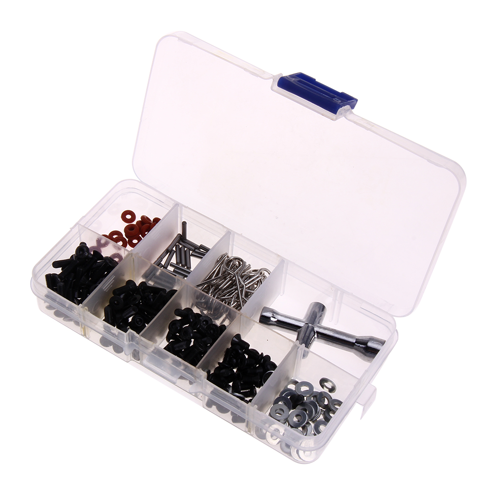 RC Car Accessory Special Repair Tool and Screws Box Set for 1/10 HSP RC Car include 270 Pcs Hexagon Wrench