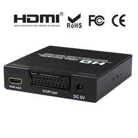 SCART HDMI to HDMI Converter Digital High Definition Video Konverter Full HD 1080P For HDTV HD XBox Upscaler AV PAL NTSC