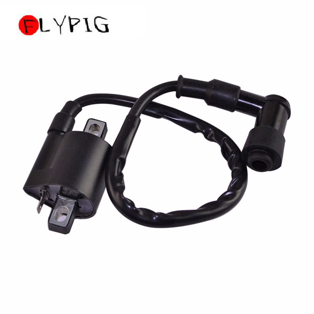 FLYPIG Black Ignition Coil Wired Cable PY PW 50 Bike Parts Spark For YAMAHA PW50 PY50 Peewee Professional Motorcycle