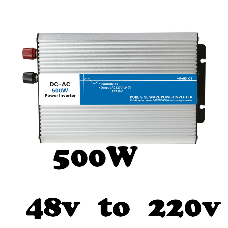 цена на AG500-48-220 500w inverter 48v dc 220v ac inverter pure sine wave power inverter,inversor,voltage converter,solar inverter