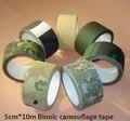 5 cm * 10 m Cinta Adhesiva de Camuflaje Biónico Exterior Abrigo de Senderismo de Camping Equipo Militar Rifle Caza Tiro Herramienta Sigilo cinta