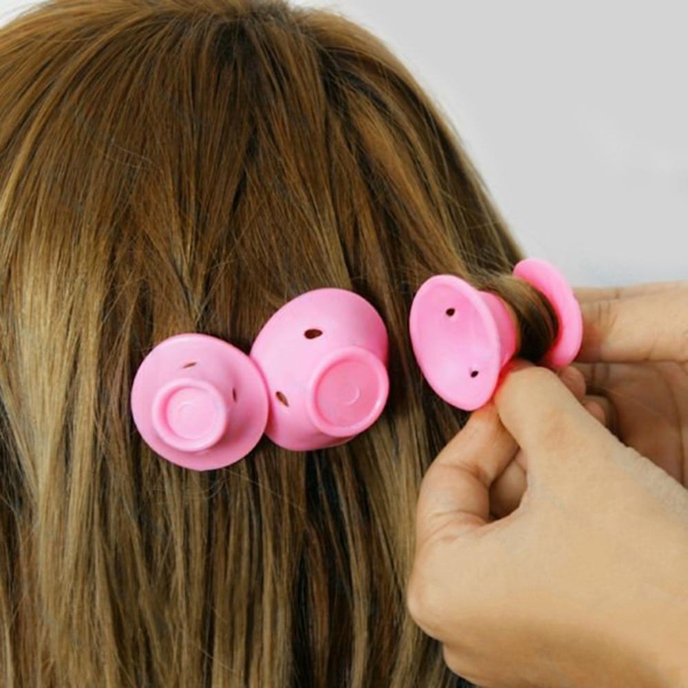 10pcs/lot Mushroom Hairstyle Roller DIY Silicone Women Sleeping Bell Curler Girl