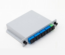 SC UPC PLC 1X8 Single mode splitter Fiber Optical Box 1×8 PLC Splitter box FTTH PLC Splitter 1×8 with SC/UPC connector