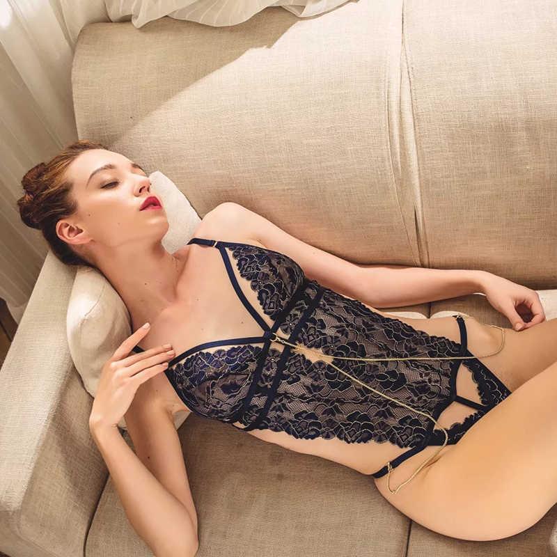 Сексуальный мусс боди цепочка для украшения нижнего белья женское нижнее белье открытая Обнаженная сексуальные штаны aesthtic комбинезоны пижамы