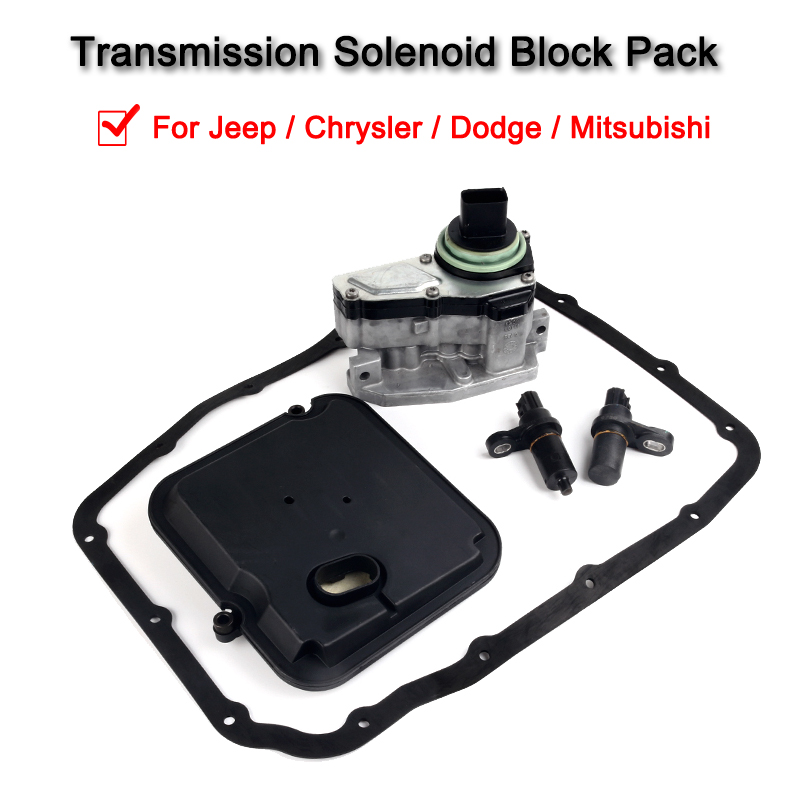 42RLE Automatic Transmission Solenoid Block With Filter Kit For Jeep / Chrysler / Dodge / Mitsubishi