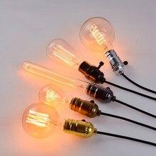 40W Edison Bulb E27 Incandescent Vintage Retro Decorative Filament Lighting Bombilla A19 G125 G80 220V Luminaria Rope Lamp