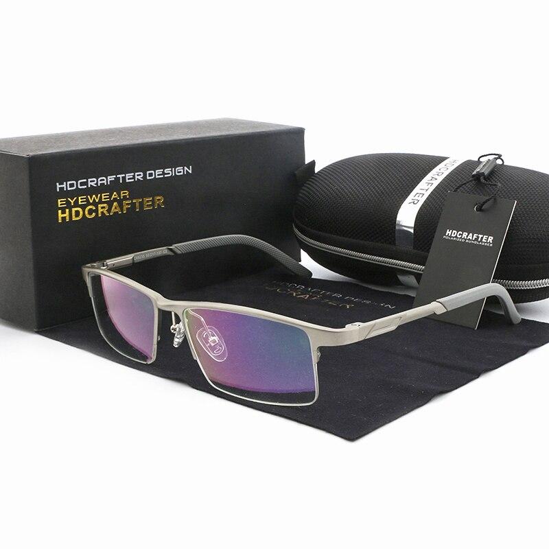Aluminum Magnesium Ultralight Frame Prescription Eyeglasses Men Glasses for Sight Rectangle Shades gafas graduadas Optical