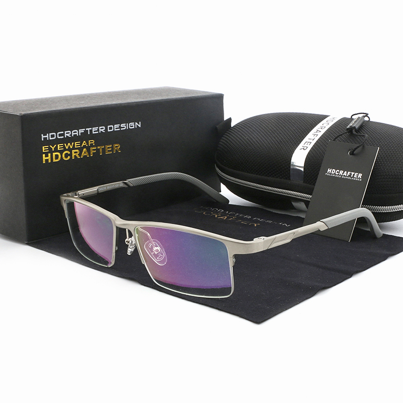 Rechteck Ultraleicht Shades silver Männer Rahmen Brillen brown Black Anblick Magnesium Gafas Graduadas Für gun Aluminium Optische Gläser 8wzqZ1xn5