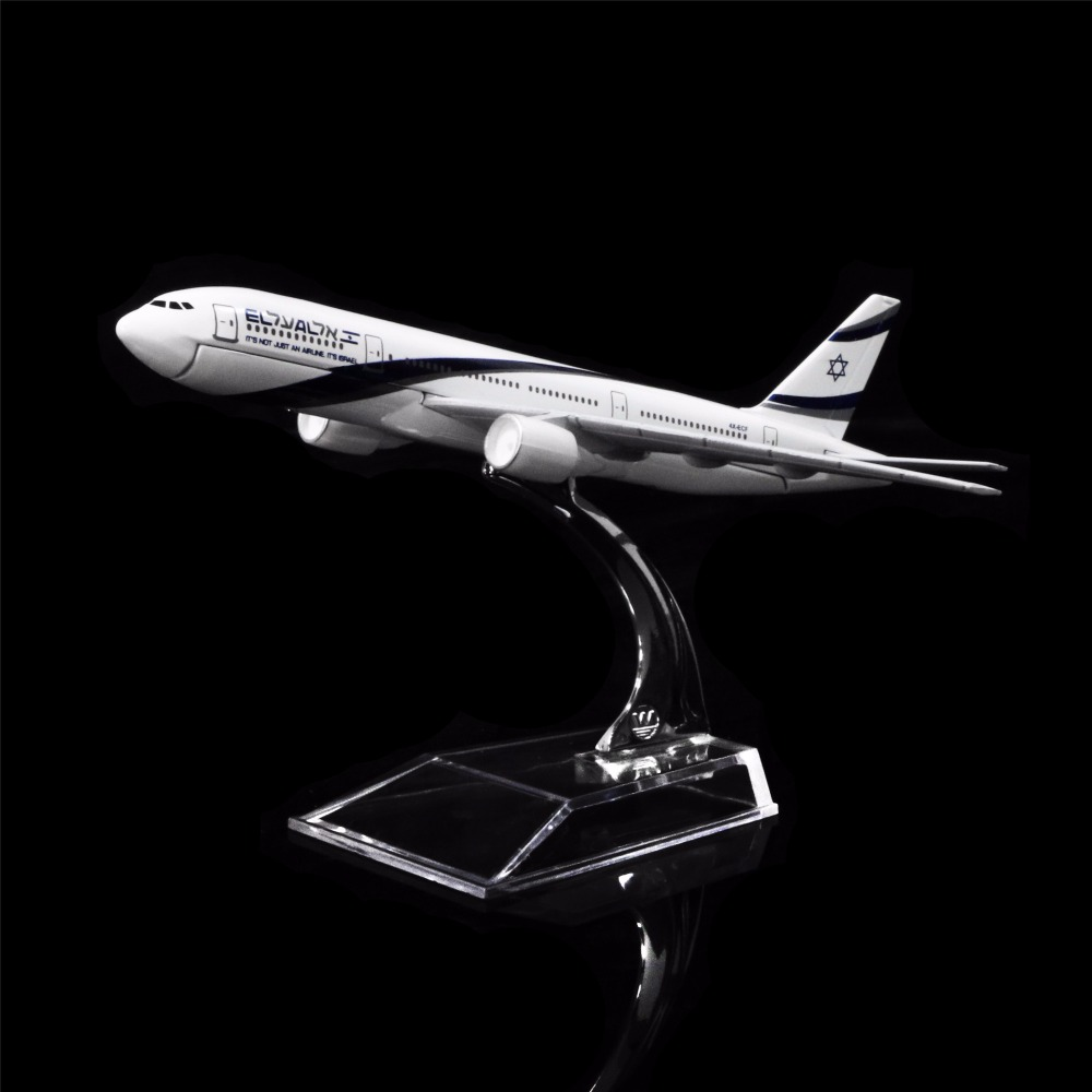 1:400 16cm EL AL Israel Airlines Boeing 777  Metal Airplane Model Office Decoration Toy Gift Idea