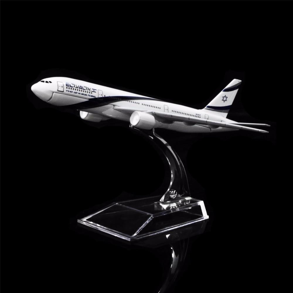 1:400 16cm EL AL Israel Airlines Boeing 777  Metal Airplane Model Office Decoration Toy Gift Idea