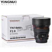 купить New arrived, YONGNUO YN14mm AF MF F2.8 Ultra Wide Angle Camera Lens For Canon 60d 600d 1300d t5i 6d 550d 70d eos 1300d 7d онлайн