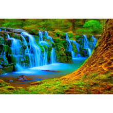 Beautiful waterfall diamond Embroidery diy painting mosaic diamant 3d cross stitch picture H427