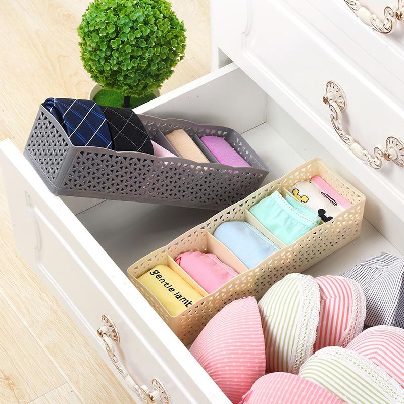 1PC 5 Grid Underwear Storage Box Cabinets Organize Jewelry Storage Household Debris Finishing Debris