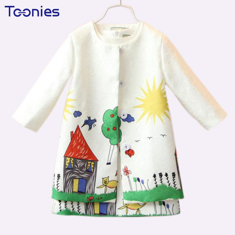 Fashion Girls Summer Autumn Clothes Sets Cotton Trench + Sleeveless Dress Children Clothing Suits Toddler Baby Girl Sets 3T-8T little maven brand 2017 new summer baby girls clothes cotton tank tops leggings dot print children s sleeveless sets 20119