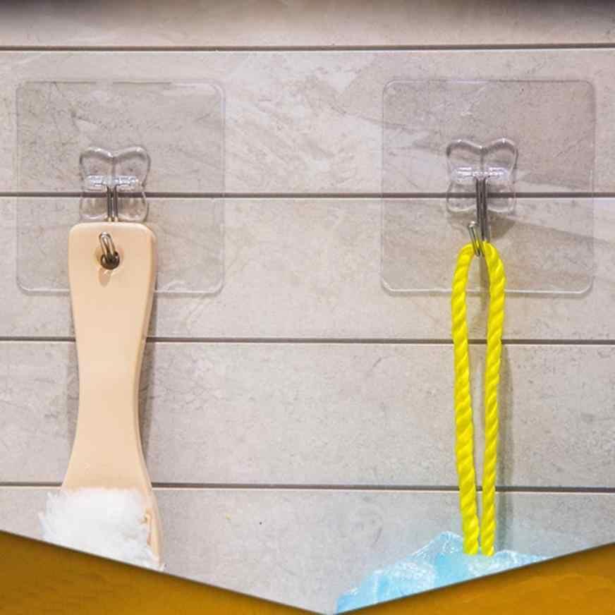 10 sztuk Hook silne przezroczyste ssania ściany Sucker wieszak wodoodporny klej duże obciążenie stojak ze stali nierdzewnej hak cintre cabide