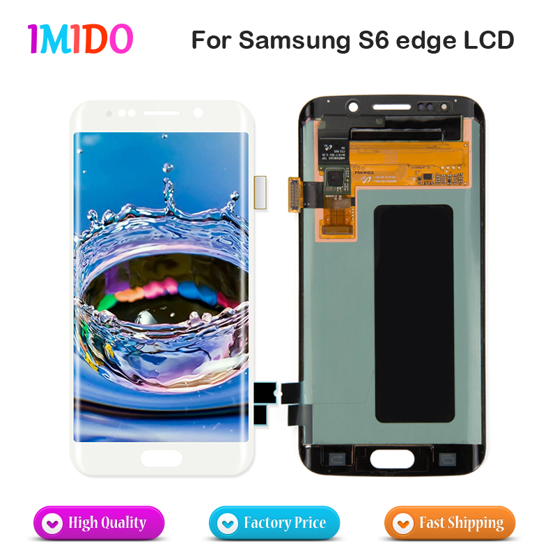 1Pcs Super Amoled LCD For Samsung Galaxy S6 Edge Display