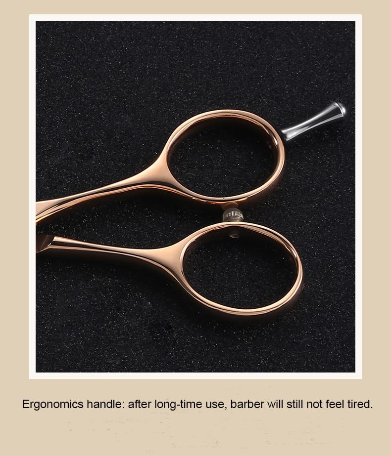 cor ouro rosa tesouras do cabelo logotipo personalizado disponível