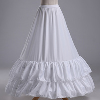 2016 New Arrives High Quality A Line White Wedding Bridal Petticoat Underskirt Crinolines For Wedding Dress