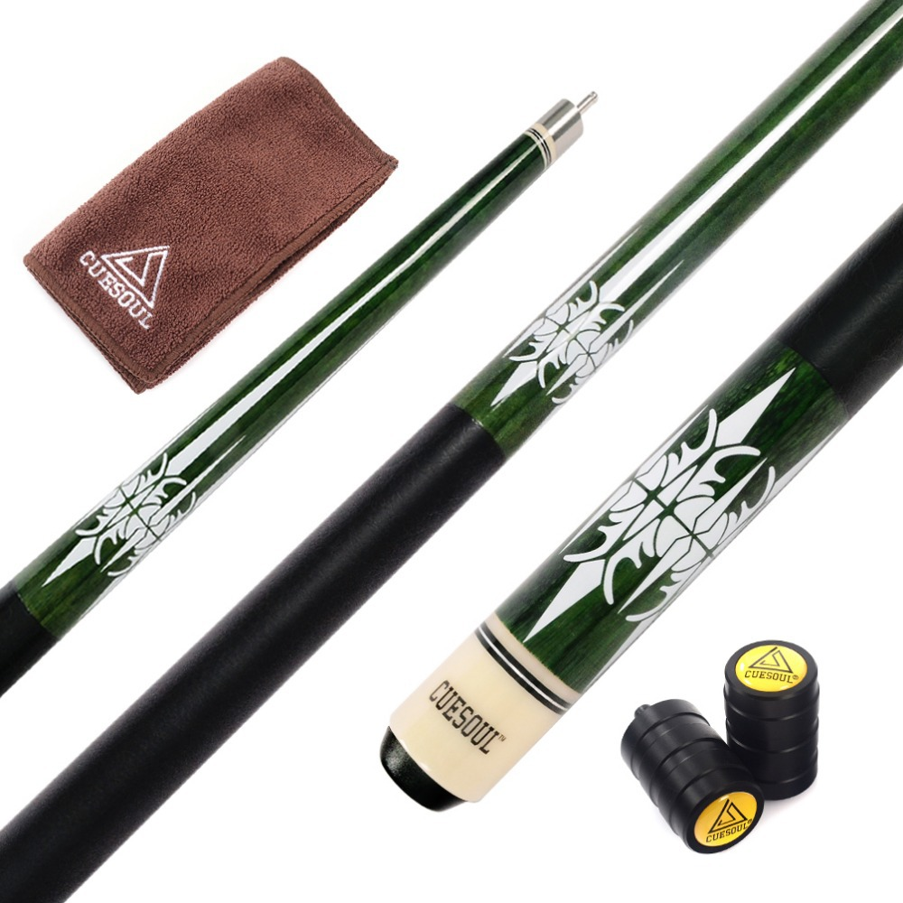 CUESOUL 57 inch Canadian Maple Wood Pool Cue Stick,13mm Cue Tips With Cue Joint Protector
