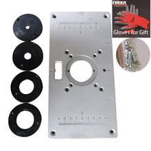 Router Table Insert Plate Aluminum Router Table Insert Plate with 4 Rings and Screws for Woodworking Benches Wood Trimmer Plate new woodworking trim bench plate aluminum router table insert insert plate 4 rings screws for woodworking benches 700c