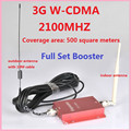60dB Gain WCDMA 3G  2100MHZ Cell Phone Mobile Signal Booster Extenders amplifier repeater Kit With  Antenna For Home Or Office